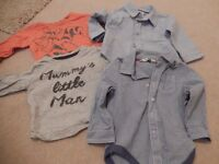 Bundle of baby boy tops - age 6-9 months