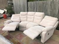 Barely used Curved electric reclining sofa