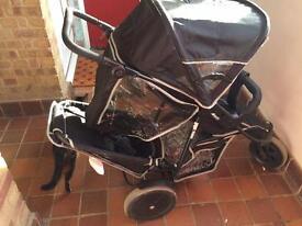 Hauck freerider double buggy/stroller