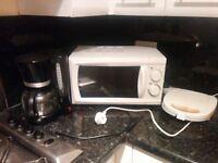 MICROWAVE + AMERICAN COFFEE MACHINE + TOASTER