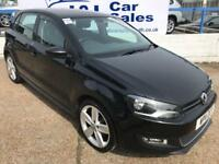 VOLKSWAGEN POLO 1.2 SEL TSI 3d 103 BHP A GREAT EXAMPLE INSIDE AND OUT (black) 2011