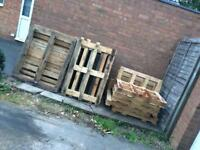 10 FREE wooden pallets euro and small