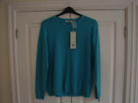 1 X NEW PURE LUXURY CASHMERE CARDIGAN - SIZE LARGE, 2 X WORN ONCE CASHMERE CARDIGANS