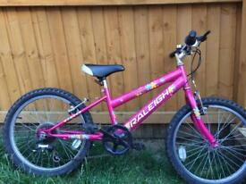 Girls Raleigh bike with twist gears