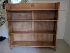Old Stripped Pine Shelving Unit