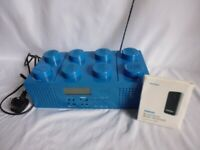 Genuine Blue Lego LG11003 Stereo CD Boombox CD Player + Bluetooth Receiver