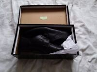 Topman/Burton Shoes, black faux leather, unworn, Size 10 UK Male