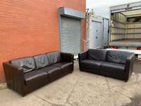 Real leather Reid's sofas 3&2 delivery 🚚 sofa suite couch furniture