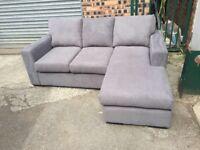 Grey chaise sofa