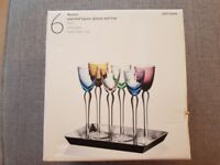 John Lewis Assorted Liqueur Glasses and Tray