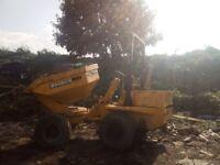 Benford 3 ton swivel dumper. Key start, good working order