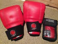 Sparring gloves and wraps