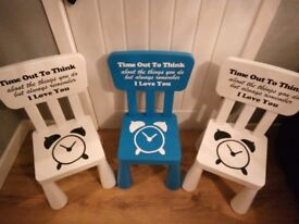 Timeout chairs made to order