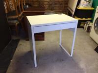 Ikea white computer desk/ dressing table