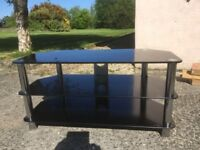 Black glass tv stand - good condition
