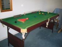 snooker table for sale 6ftx3ft