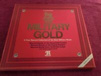 MILITARY GOLD-A Four Vinyl Record Collection Of The Best Military Music-Proceeds To Local Charity