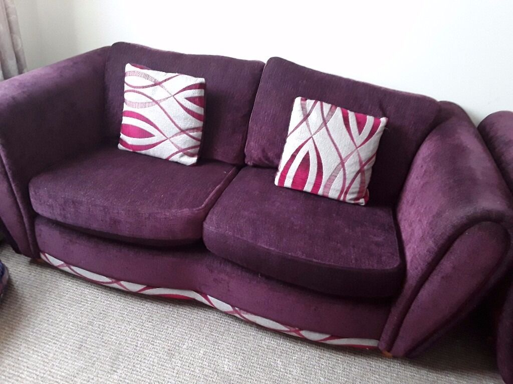 Purple sofa x2 2 seaters very very good conditioned | in Poole ...