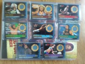 Topps WWE Slam Attax 10th edition ring mat memorabilia cards, Roman Reigns, Seth Rollins, Bayley etc