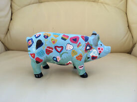 New - Money box colourful pig