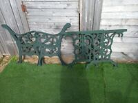 Cast iron bench ends plus table ends