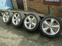 Mustang alloys with tyres
