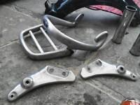 Genuine Triumph Thunderbird 900 rear mudguard brackets, grab handle and rack.