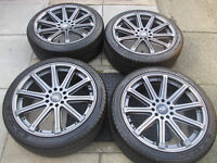 """ford focus mondeo transit connect 18"""" alloy wheels all tyres are like new"""
