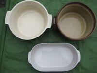 Three Glazed Stoneware Pots for £8.00