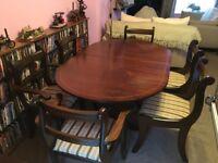 Table and 6 Chairs mahogany