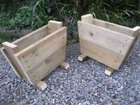 PAIR OF GARDEN TROUGHS - upcycled