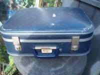 Small 1960's Suitcase (scratched) Good handle and Original Parts