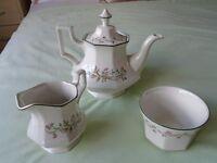 Eternal Beau Teapot, Sugar Bowl & Milk Jug