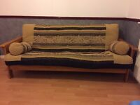 Sofa Bed Futon, Solid Wood frame, Good quality heavy futon, clean and good condition.