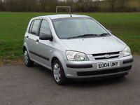 Hyundai Getz 1.1 2004 cheap insurance NEW MOT not micra, Matiz, polo, 206