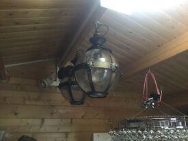 Bronze effect glass ball lightfitting