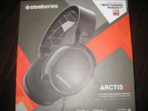 SteelSeries Arctis 3 Stereo PC Gaming Headset / Headphones Mic. 7.1 Surround Sound. Noise Cancellation. Clear Audio