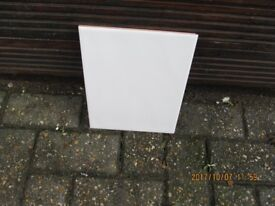 17 OF 25 x 20cm GLOSSY ANGORA WHITE BUMPY TILES