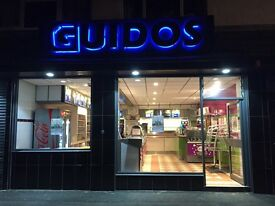 Guido's is looking for a delivery driver full time or part time hours 4pm till 11pm