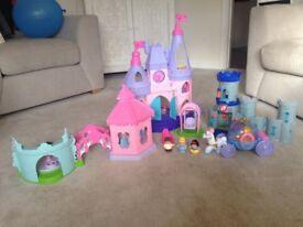 Little people princess castle and garden
