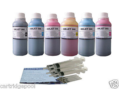 6x 8oz/s Refill Ink Kit For Hp 02 Photosmart C6180 C5140 ...