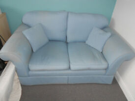 Laura Ashley Sofa. 2 Seater Blue.