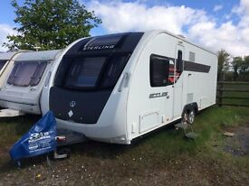 2014 Swift Eccles Wayfarer. Excellent condition. Model specific awning included.