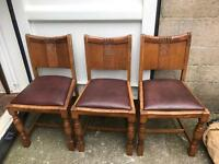 3 oak dining chairs FREE DELIVERY PLYMOUTH AREA
