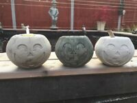 Halloween Stone Concrete Pumpkins Pumpkin Statue