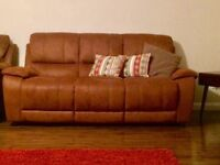 3 SEATER SUEDE LEATHER SOFA