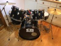 CB Drum kit with stool, sticks and silencer pads