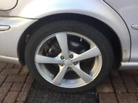 """17"""" alloys and tyres fit jaguar/ ford"""