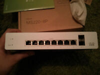 Cisco Meraki MS220-8P Brand New In Box with Unclaimed 3 year license