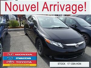 2012 Honda Civic LX +REG,VITESSE+BLUETOOTH+A/C